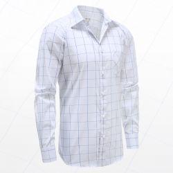 Overhemd heren lange mouw met magneten, ideaal voor parkinson, reuma