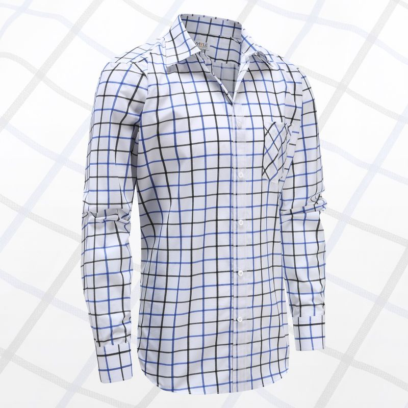 Men long sleeve shirt with buttons, ideal for Parkinson's, rheumatism