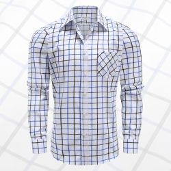 Heren MYLE overhemd lange mouw met magneten, met borstzakje