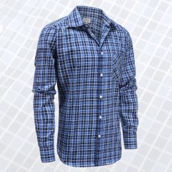 Heren overhemd lange mouw met magneten, ideaal voor parkinson, reuma