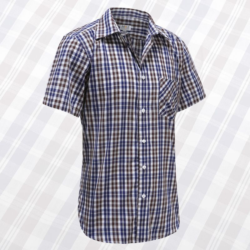 Herren Kurzarm Oberhemd mit Knöpfen, ideal für Parkinson, Rheuma
