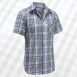 Men's short sleeve shirt with buttons, ideal for Parkinson's, rheumatism