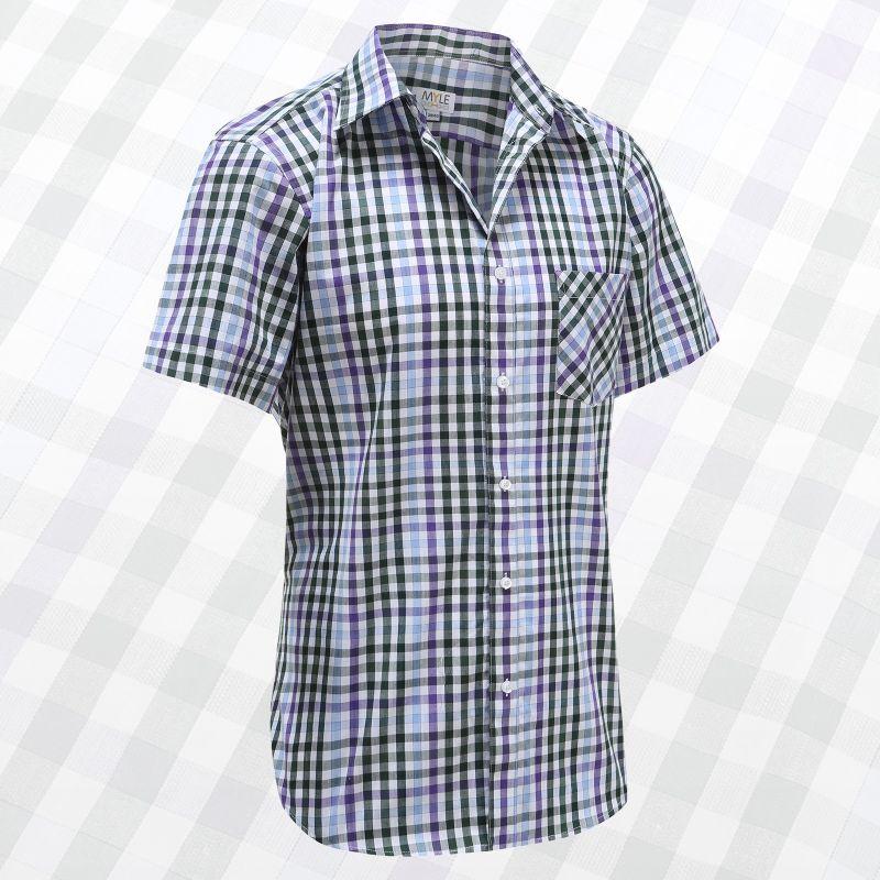 Chemise à manches courtes hommes avec des boutons, idéal pour, les rhumatismes de Parkinson